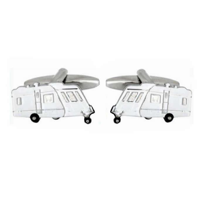 White Caravan Cufflinks