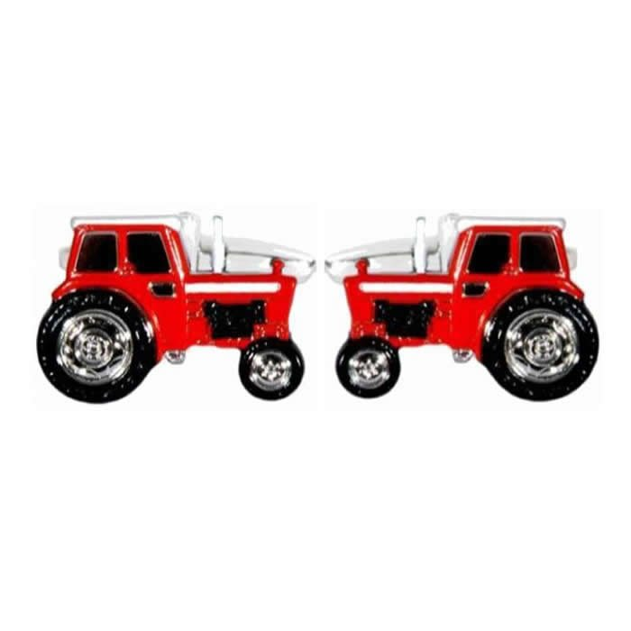 Red Tractor Detailed Cufflinks