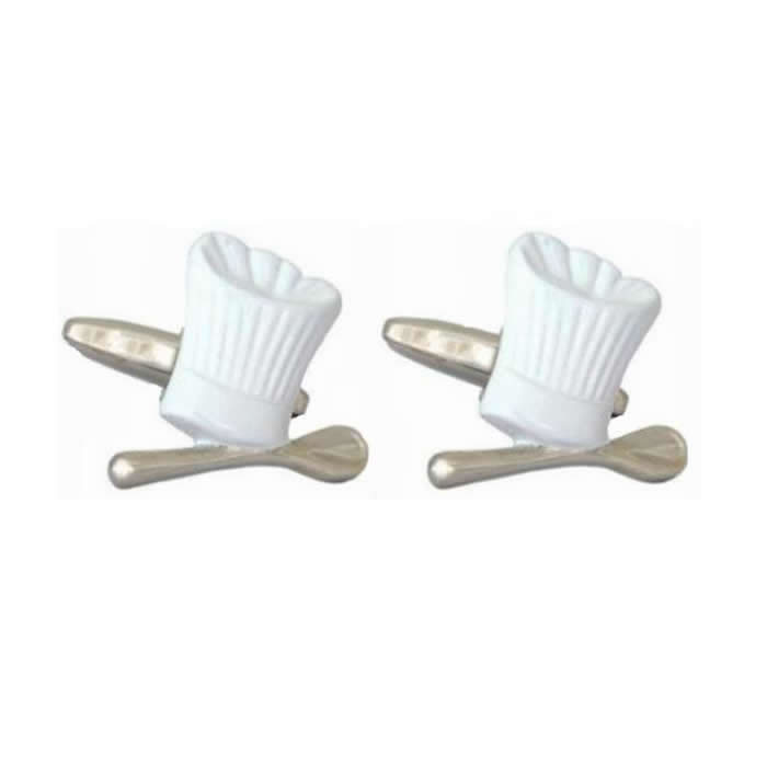 Chefs Hat Kitchen Cufflinks