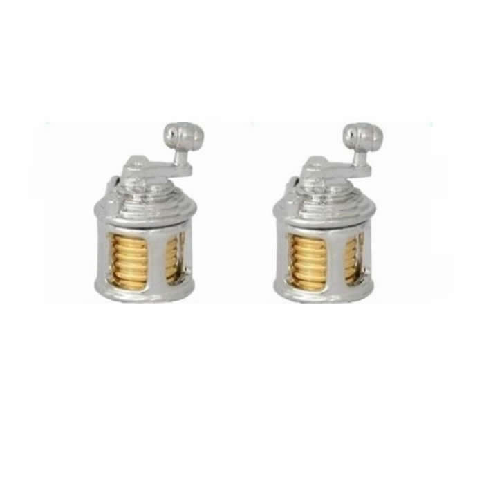 Fishing Reel Gold Look Cufflinks
