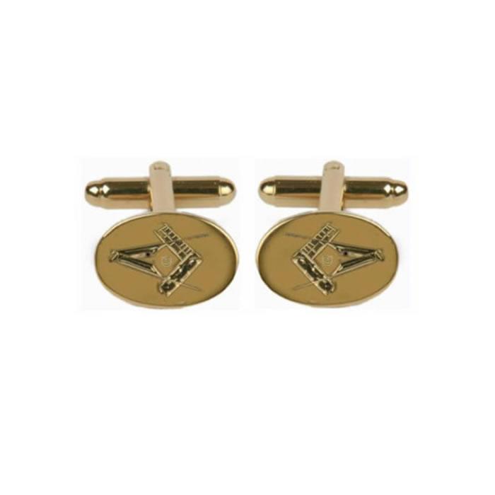 Masonic Oval Engraved Cufflinks