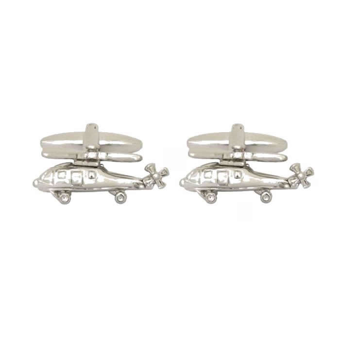 Helicopter 3D Cufflinks