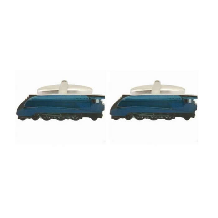 Steam Train Blue Cufflinks