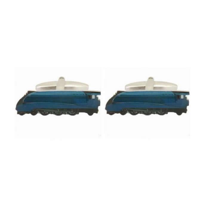 Steam Train Blue Cufflinks