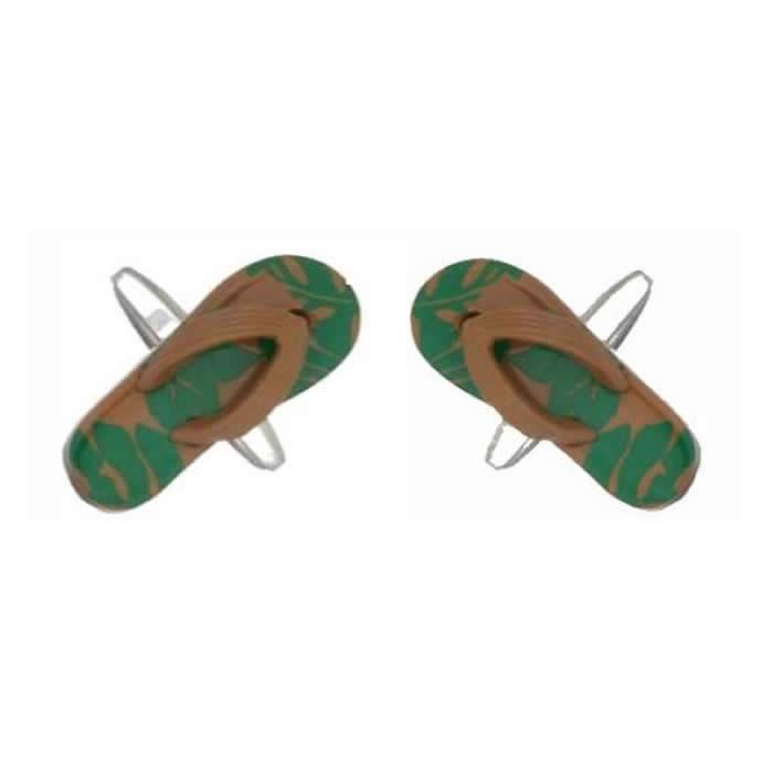 Green Flip Flop Sandal Cufflinks