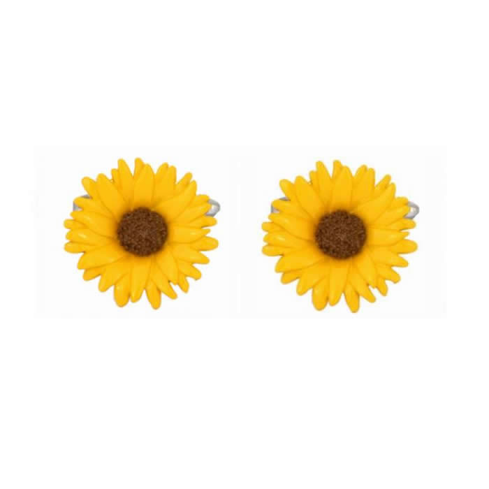 Sunflower Novelty Cufflinks