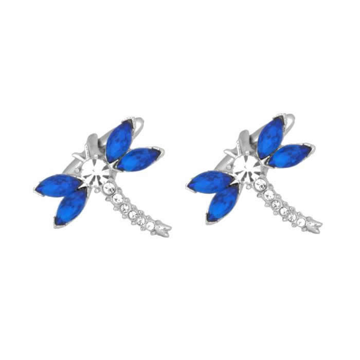 Blue and Silver Dragonfly Cufflinks