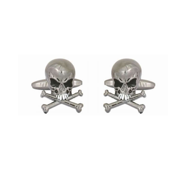 Skull And Crossed Bones Cufflinks
