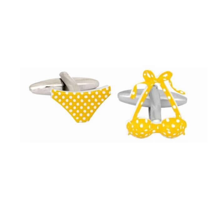 Bikini Yellow Cufflinks