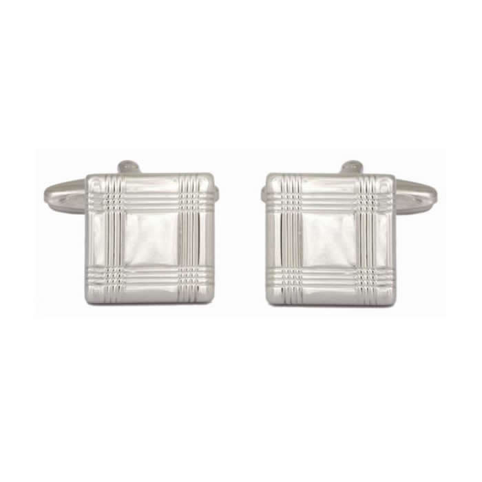 Square With Tartan Lines Cufflinks