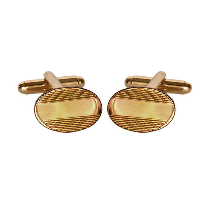 Simple Barley Effect Cufflinks