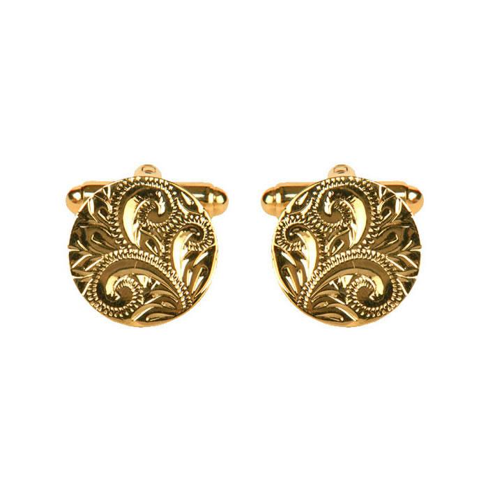 Venetian Engraved Circular Cufflinks