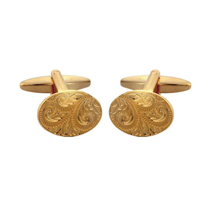 Venetian Style Engraved Cufflinks
