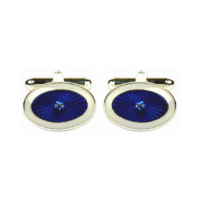 Blue And White Starburst Cufflinks