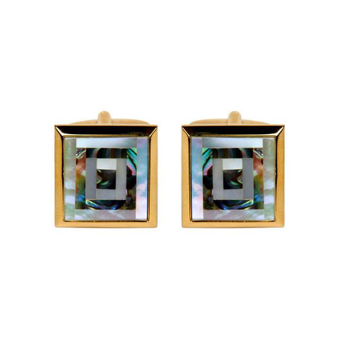 Square Paua Shell Cufflinks