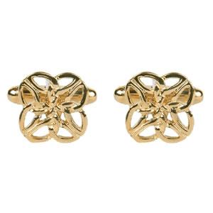 Gold Look Celtic Pattern Cufflinks