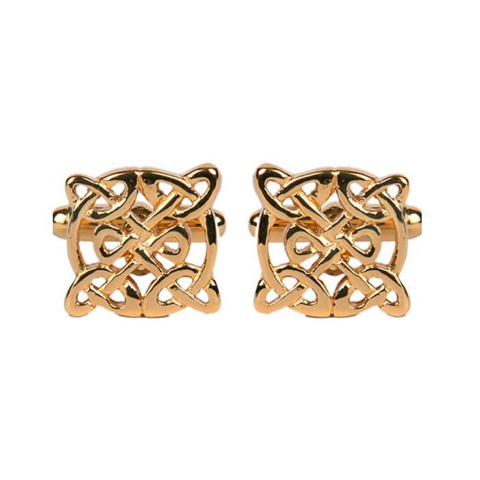 Circular Celtic Pattern Cufflinks