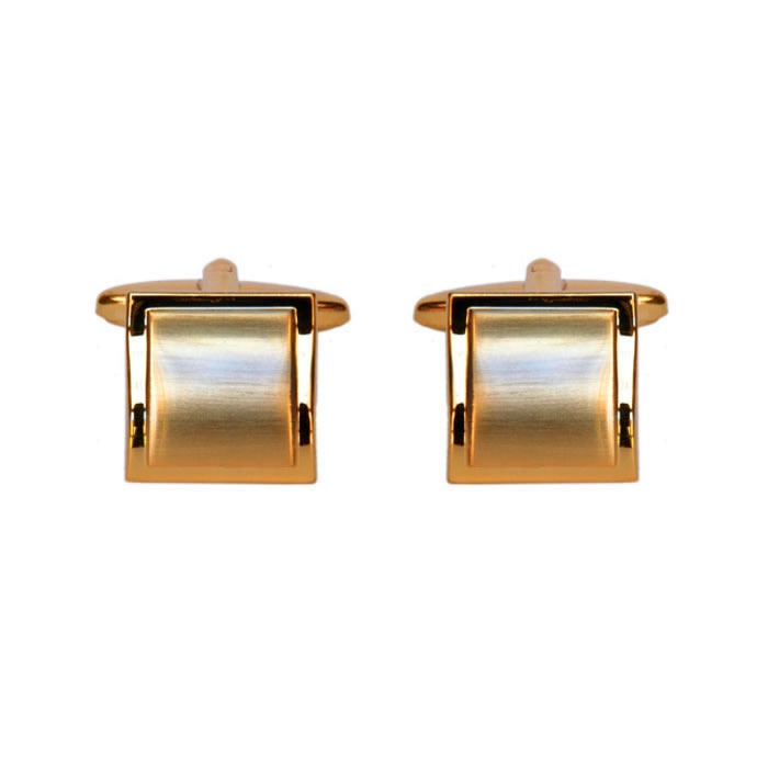 Square Brushed Effect Style Cufflinks
