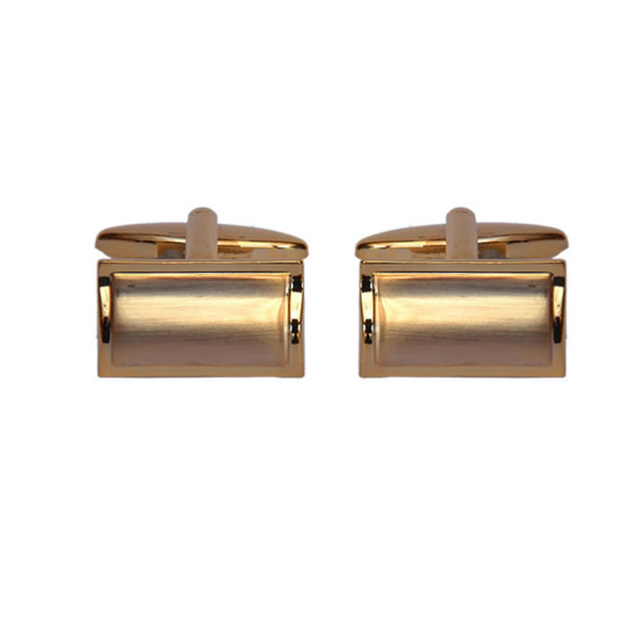 Rectangular Brushed Effect Silver Look Cufflinks