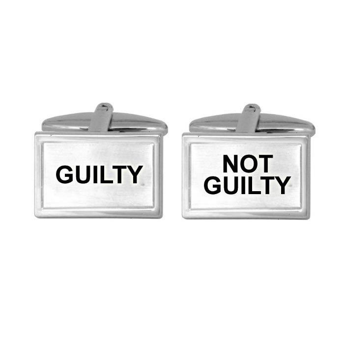 Guilty Not Guilty Rectangle Cufflinks