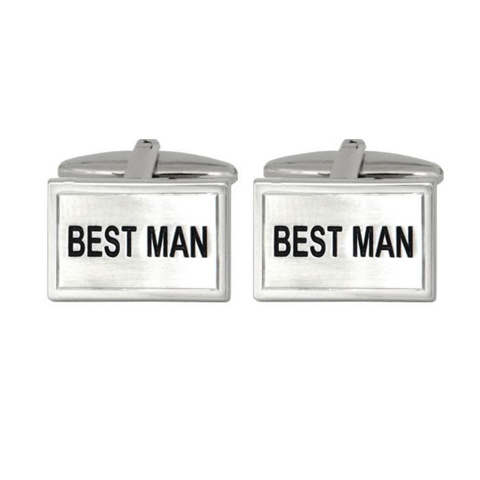 Rectangular Best Man Cufflinks