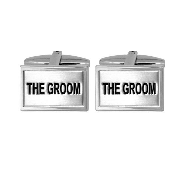 Groom Rectangular Cufflinks