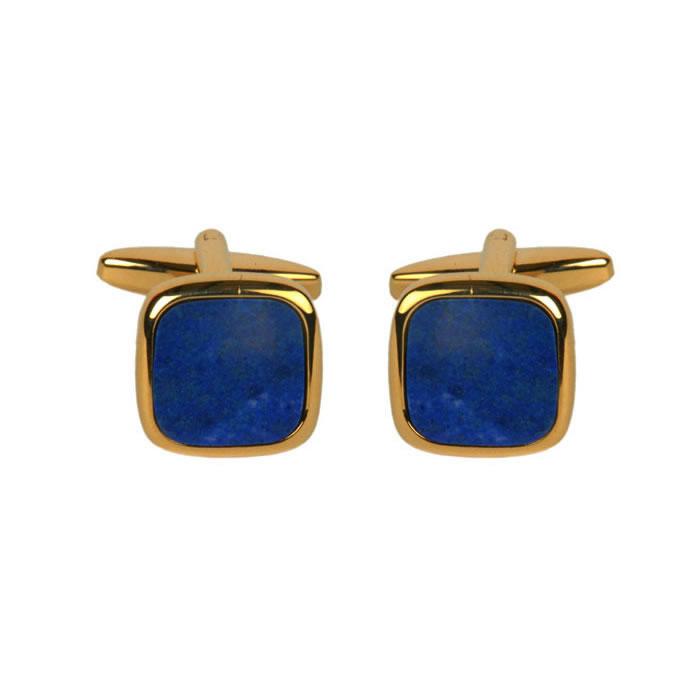 Square Lapis Lazuli Cufflinks