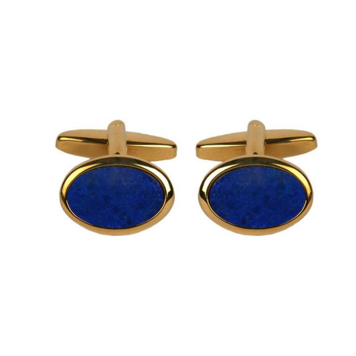 Oval Lapis Lazuli Cufflinks