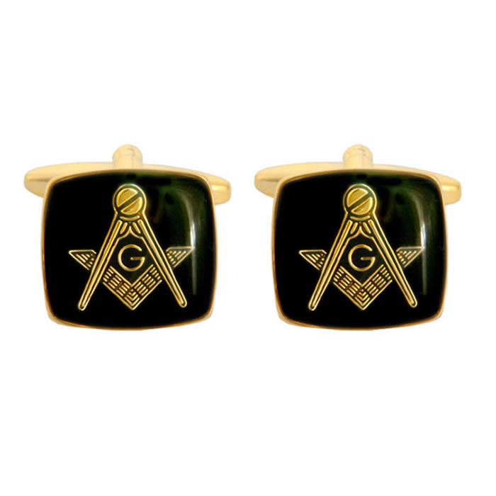 Black Masonic G Cufflinks