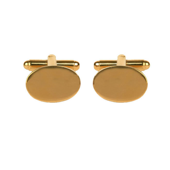 Oval Gold Plated Style Cufflinks