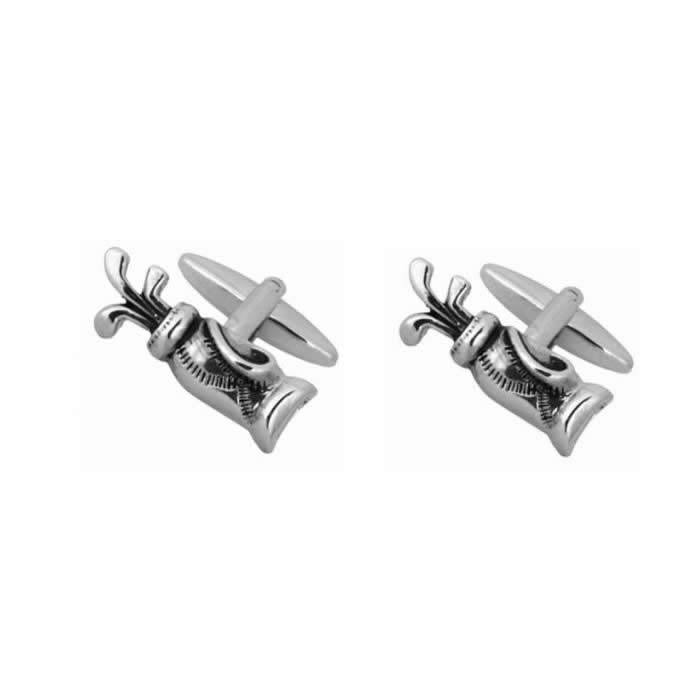 Golf Bag And Clubs Cufflinks