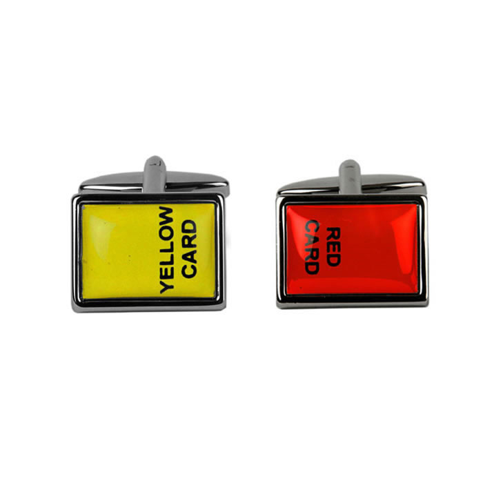 Red Card And Yellow Card Cufflinks