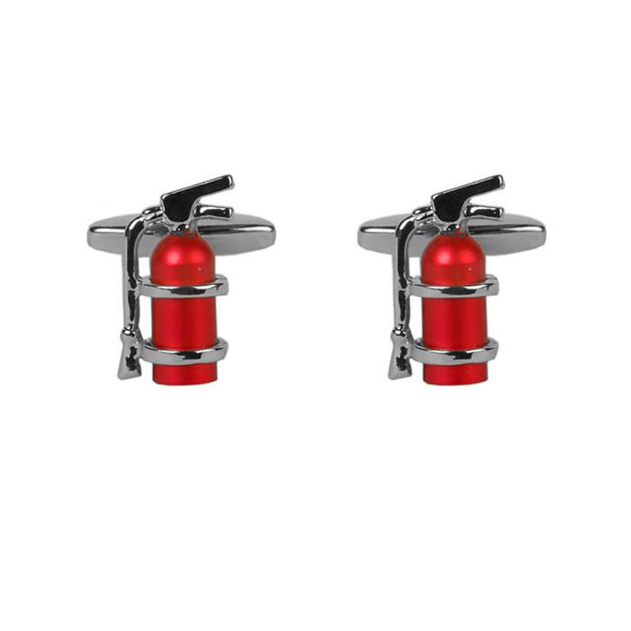 Red Fire Extinguisher Cufflinks