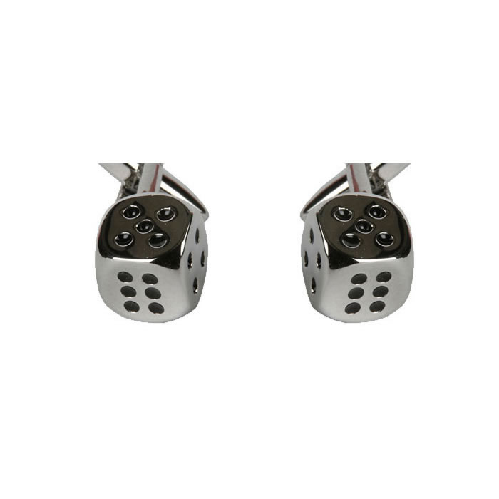 Shaded Dice Cufflinks