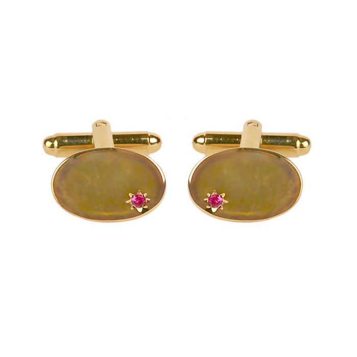 Small Ruby Cufflinks