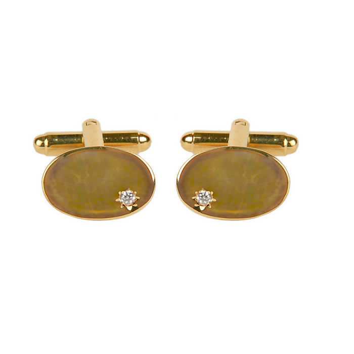 Small Cubic Zirconia Cufflinks