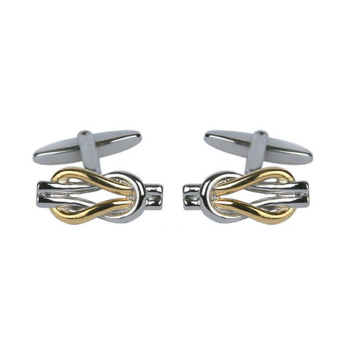 Two Tone Loop Knot Cufflinks