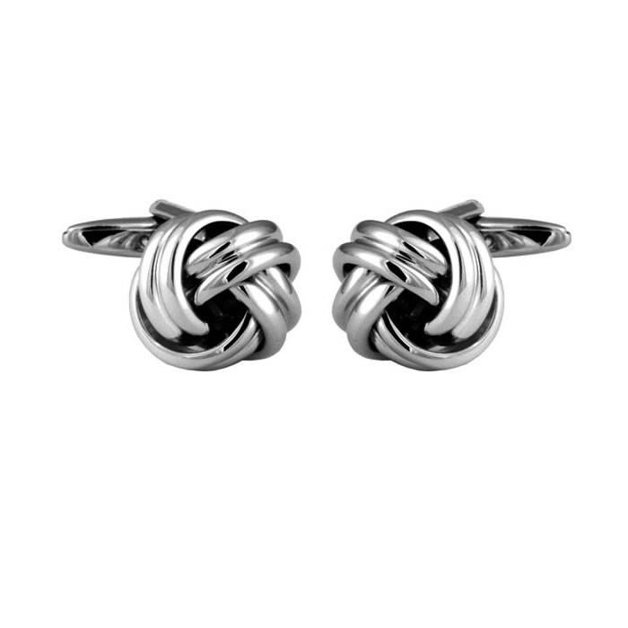 Double Strand Love Knot Shaped Cufflinks