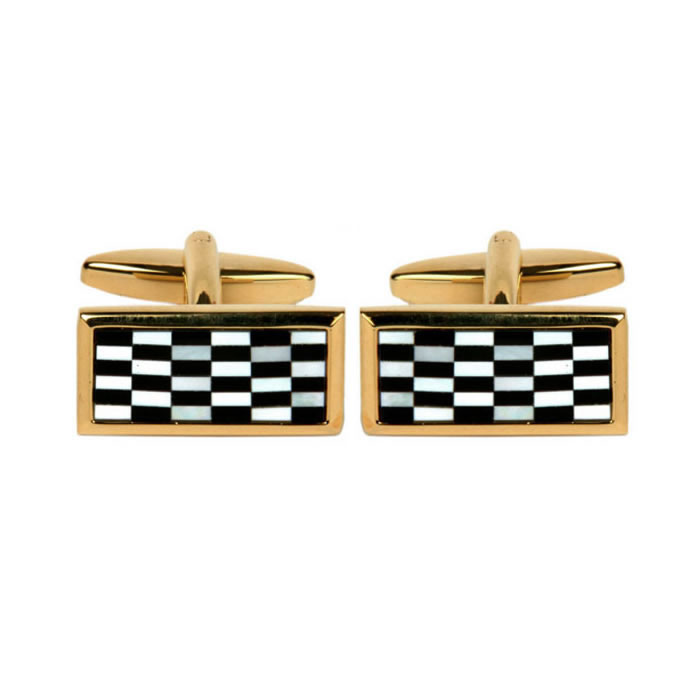 Rectangular Chequered Cufflinks