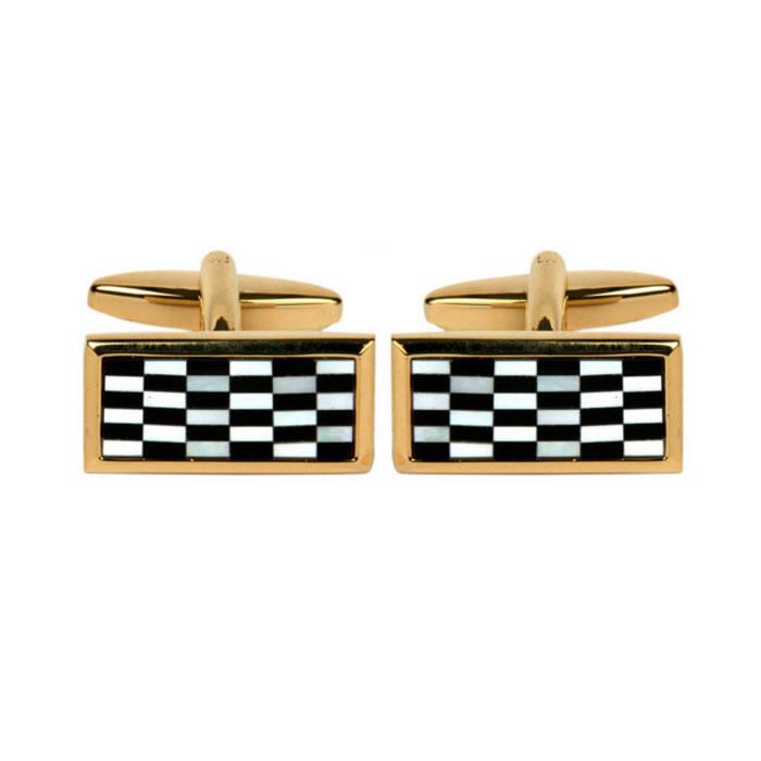 Rectangular Chequered Cufflinks