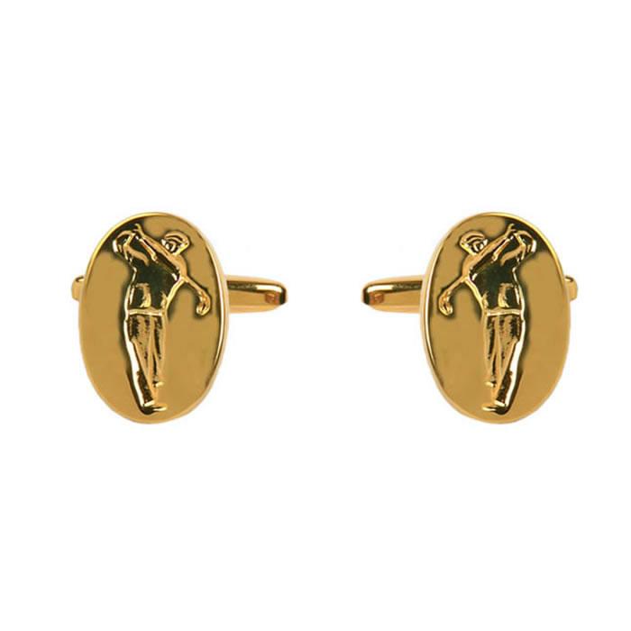 Gold Plated Golfer Cufflinks