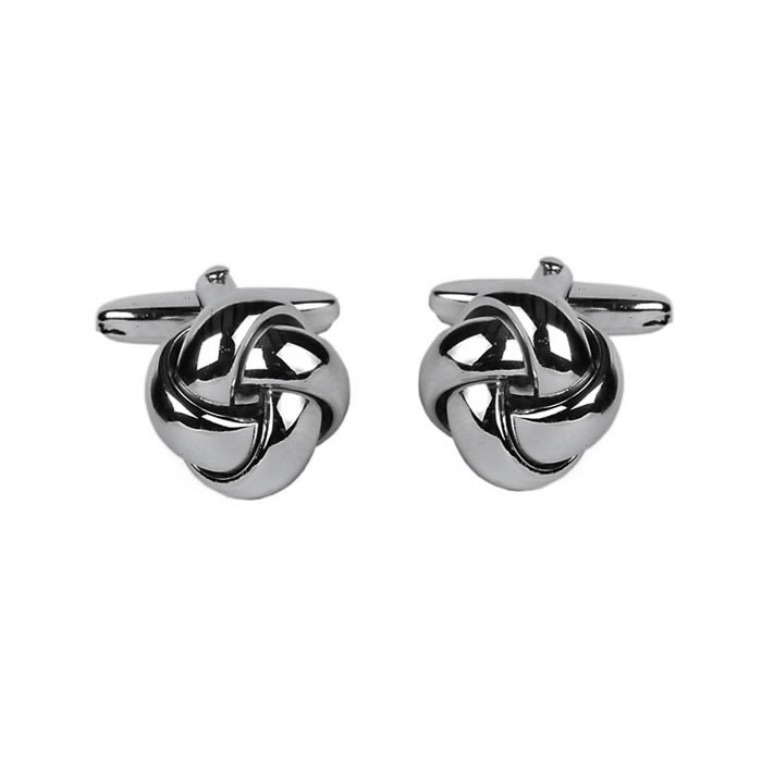 Smooth Strand Love Knot Style Cufflinks