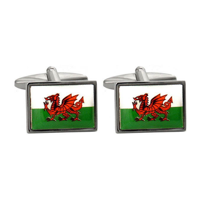 Wales Welsh Flag Cufflinks