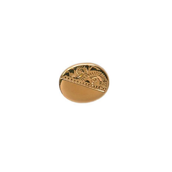 Venetian Engraved Effect Oval Gold Look Tie Tac
