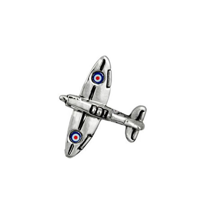Spitfire Fighter Plane Tie Tac