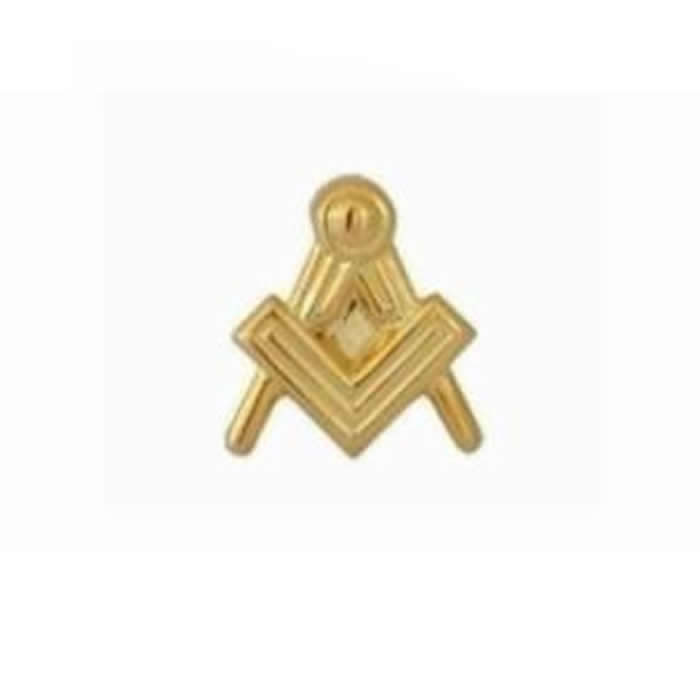 Masonic Gold Plate Tie Tac