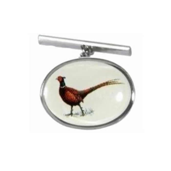 Pheasant Enamel Tie Tac