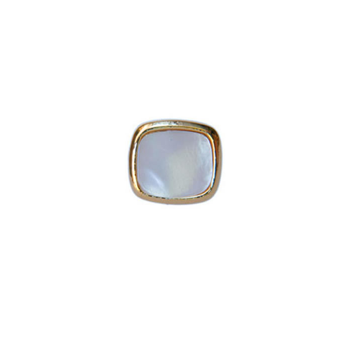 Square Mother Of Pearl Tie Tac