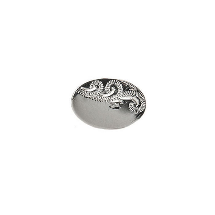 Venetian Engraved Effect Oval Tie Tac