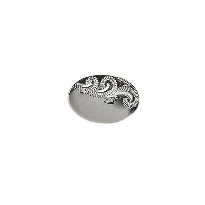 Venetian Engraved Effect Oval Tie Tac